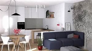Soggiorno E Cucina In Un Unico Ambiente  Progetto D U0026 39 Arredo In 3d