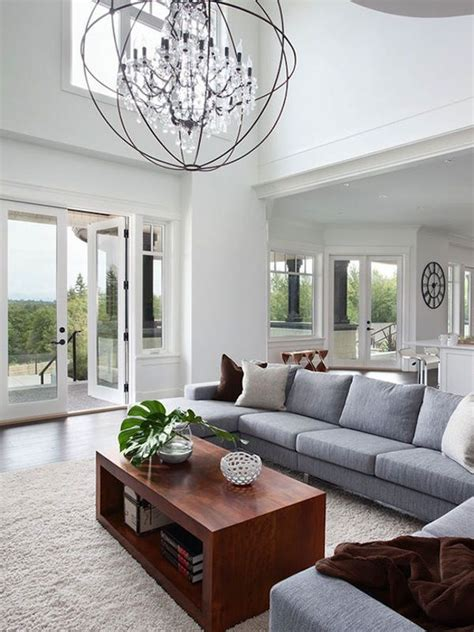 contemporary chandelier in living room 1050