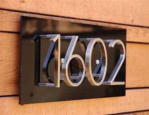 image gallery house address numbers With mid century modern house numbers and letters