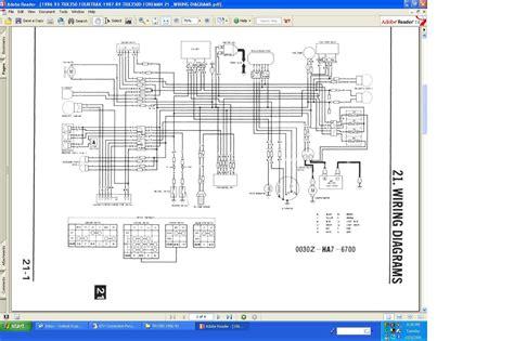 honda 250r fourtrax wiring diagram honda xr250 wiring