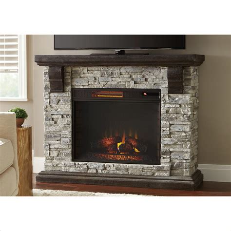 portable fireplace home depot home decorators collection highland 50 in faux