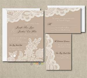 100 personalized custom rustic vintage lace wedding With personalised wedding invitations online free
