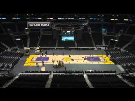 change staples center court youtube