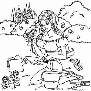 Coloriage Jardin En Ligne Gratuit Imprimer