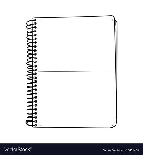 sketch  notepad royalty  vector image vectorstock