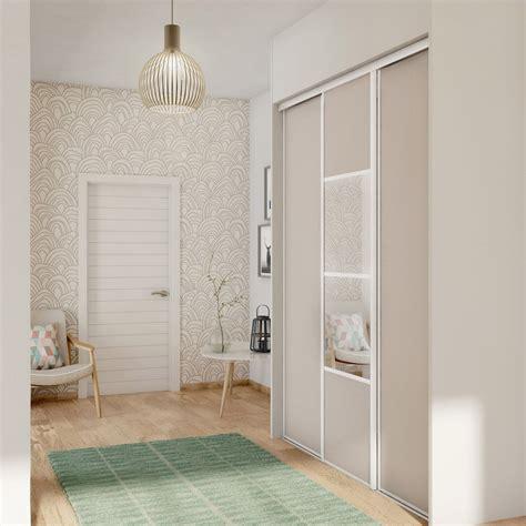 porte chambre coulissante porte de placard coulissante sésame spaceo l 67 x h 250 cm