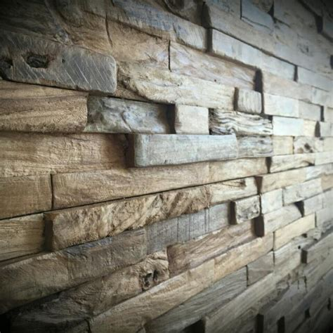 reclaimed wood wall rustic wall panels decorative wall home decor teak wood recycled wood