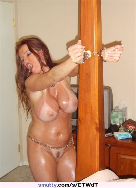 Cuffed Handcuffs Chain Naked Nude Milf Tanlines Tv