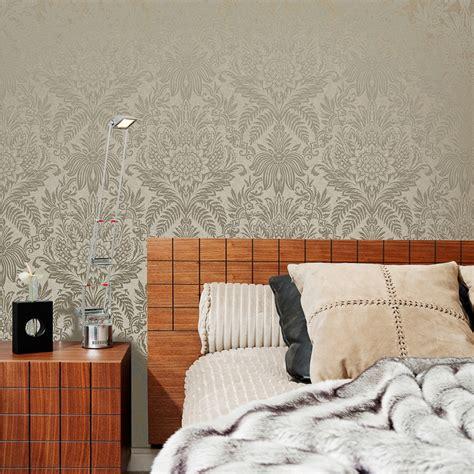 signature damask wallpaper biscuit wallpaper bm