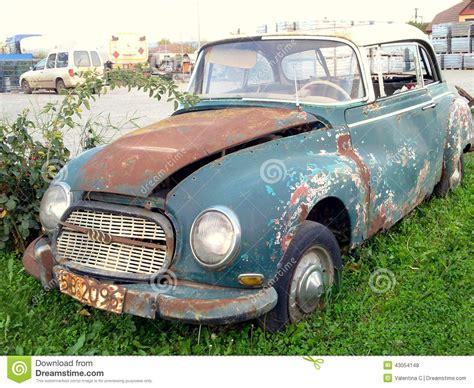 Vintage Broken Car Editorial Stock Photo. Image Of History