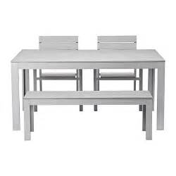 Kitchen Table And Bench Set Ikea by Falster Table 2 Chairs And Bench Outdoor Gray Ikea