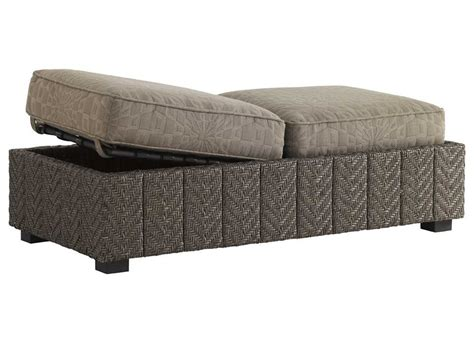 outdoor ottoman with storage bahama outdoor blue olive wicker storage ottoman