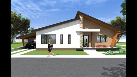 Moderner Bungalow by Bungalow House Design 3d Model A27 Modern Bungalows By