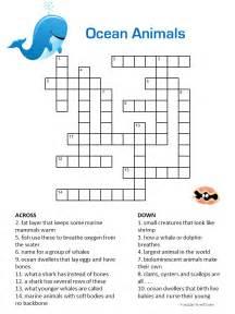 Ocean Crossword Puzzles for Kids