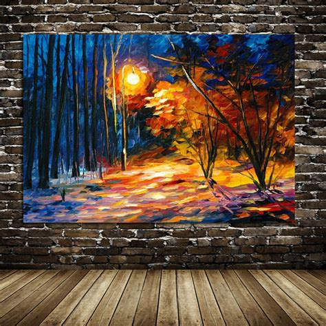 trend terbaru lukisan abstrak pemandangan garden