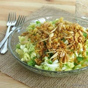 Asian cabbage salad with walnuts