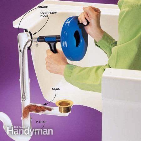 clear clogged drains plumbing system