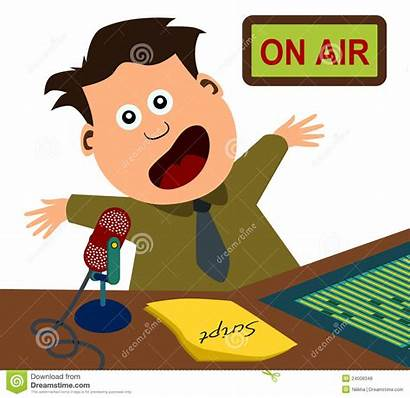 Radio Announcer Cartoon Clipart Illustration Station Talk