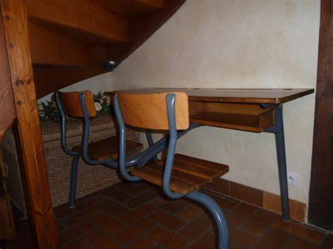 bureau ecolier ancien bureau écolier ancien 2 places