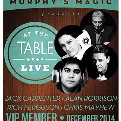 at the table vip member december 2014 alakazam magic usa