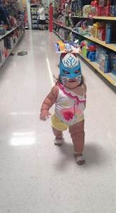 baby walking like a power rangers masks and