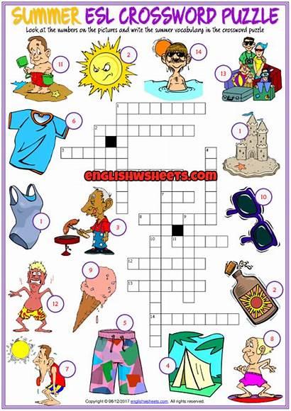 Crossword Puzzle Esl Printable Word Worksheet Puzzles