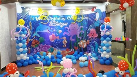 underwater theme decoration birthday medium theme