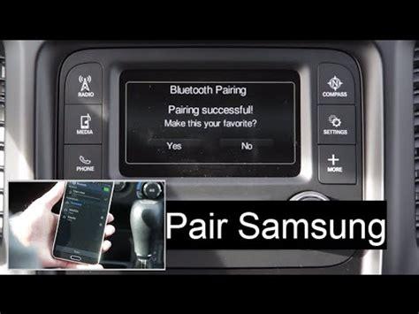 jeep phone pair bluetooth setup uconnect  system