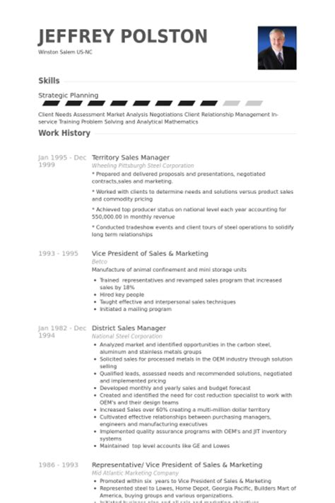 territory sales manager resume sles visualcv resume