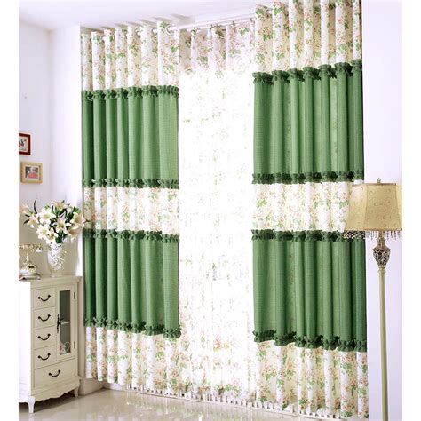 korean style floral country curtains for room