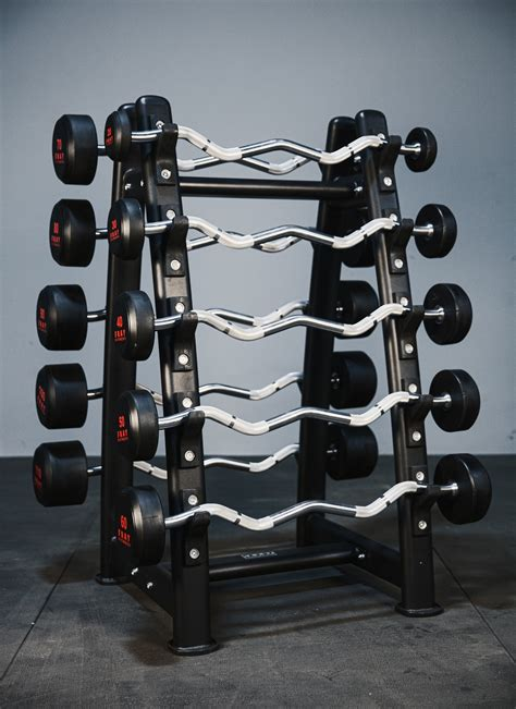 rubber curl fixed barbell complete set   fray fitness