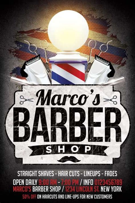 barbershop flyer template httpxtremeflyerscom