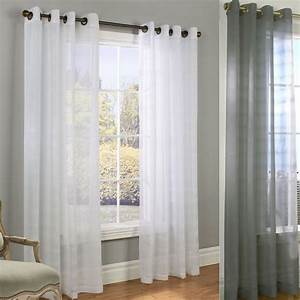 Encore boucle semi sheer grommet curtain panels for Grommet curtains with sheers