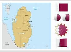Qatar Map And Flags Download Free Vector Art, Stock