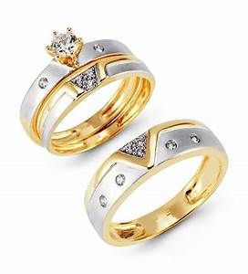 gold wedding rings sets for him and her wedding promise With gold wedding and engagement ring sets