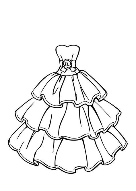 image detail  printable dress coloring pages etelae helsingin vihreaet wedding coloring
