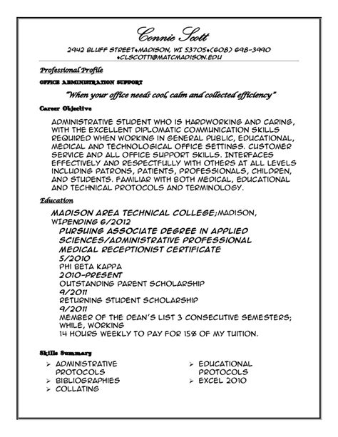profile resume exles professional profile resume