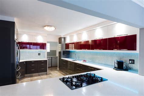 high gloss duco  essential kitchens