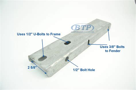 How To Mount Boat Trailer Fenders by Boat Trailer Galvanized Fender Mounting Bracket Step Pad