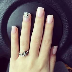 light pink acrylic nails   nails   Pinterest   Light pink ...