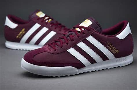 sepatu sneakers adidas originals beckenbauer maroon white gold snakers adidas sneakers