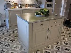 Meuble Style Campagne Chic : meuble de cuisine zinc ~ Teatrodelosmanantiales.com Idées de Décoration