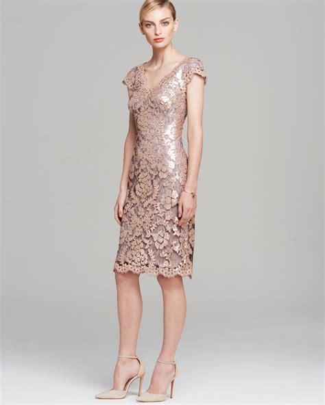 sleeve v neck dress tadashi shoji dress v neck cap sleeve sequin in gold