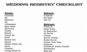 wedding registry checklist wedding registry checklist With wedding gift registry list