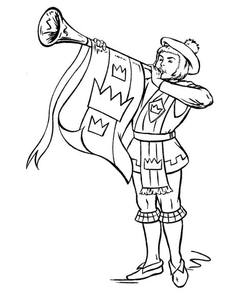 medieval times worksheets pages trumpet azcoloring activity via