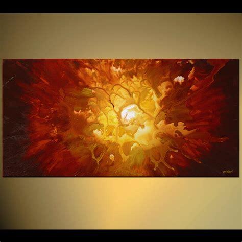 Painting - exploding sun supernova home decor red shine #5332