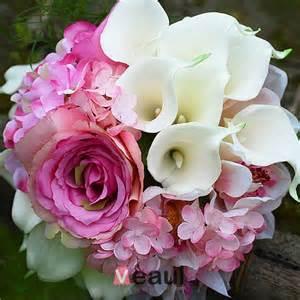fleurs de mariage accessoires de mariée mariage bouquets detenant fleur artificielle fleur en soie lys calla