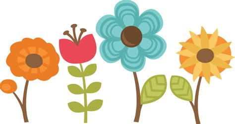 flowers set of 4 svg cut files for scrapbooking flower svg files gifts of the spirit