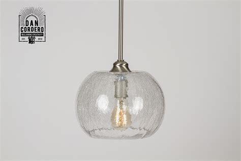 crackle pendant light fixture bubble  cordero
