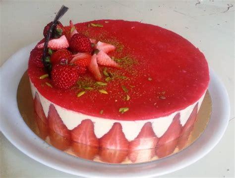 hervé cuisine bavarois deco gateau fraisier